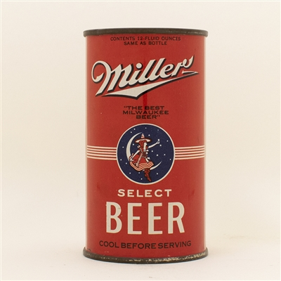 Miller Beer Opening Instruction Flat Top Can
