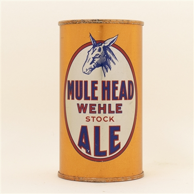 Wehle Mule Head Ale OI Flat Top Beer Can SPOTLESS