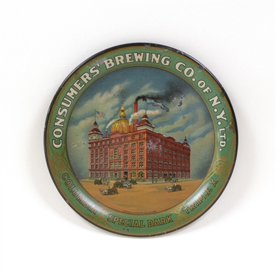 Consumers Brewing Factory Scene Tip Tray