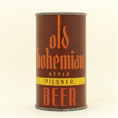 Old Bohemian Beer Instructional Flat Top Can