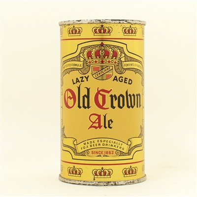 Old Crown Ale Instructional Flat Top Beer Can