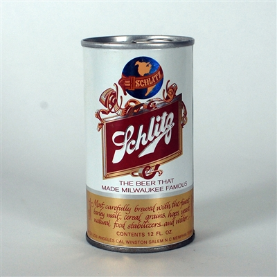 Schlitz SMALL GLOBE Test Can