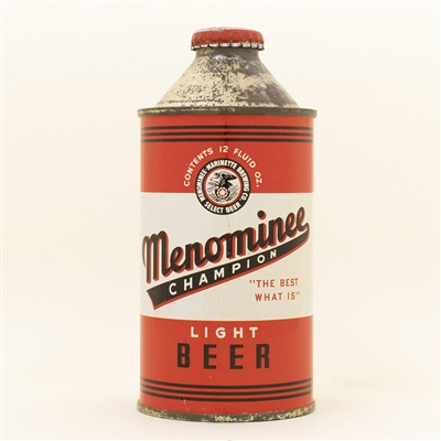 Menominee Beer Cone Top Can