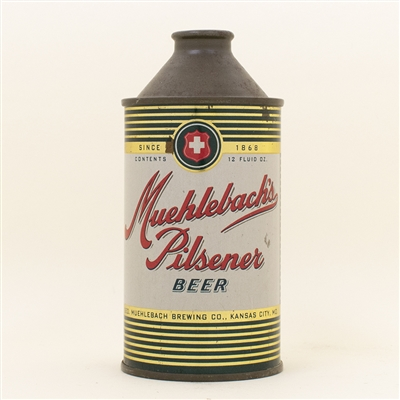 Muehlebach Pilsener Beer Cone Top Can