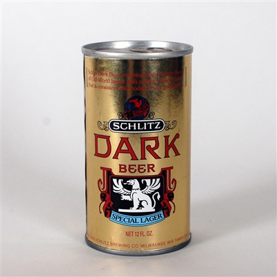 Schlitz DARK Beer Test Can