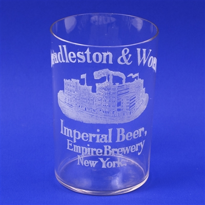 Beadleston Woerz Imperial Beer Factory Etched Glass