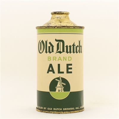 Old Dutch Ale Low Profile Cone Top Beer Can