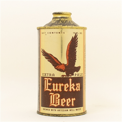Eureka Beer Eagle Cone Top Can SPECTACULAR