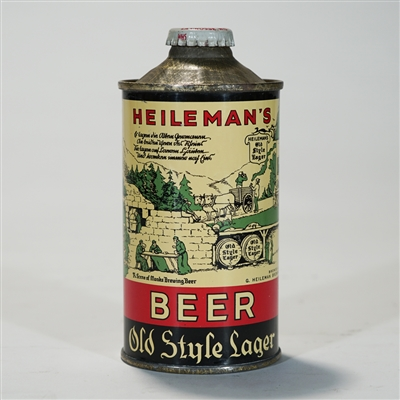 Heilemans Old Style Lager Beer LP Cone Top