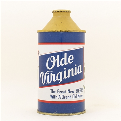 Olde Virginia Beer Cone Top Can
