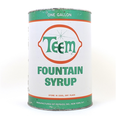 Teem Gallon Fountain Syrup Can Pepsico
