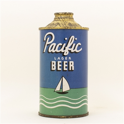 Pacific Beer Low Profile Cone Top Can
