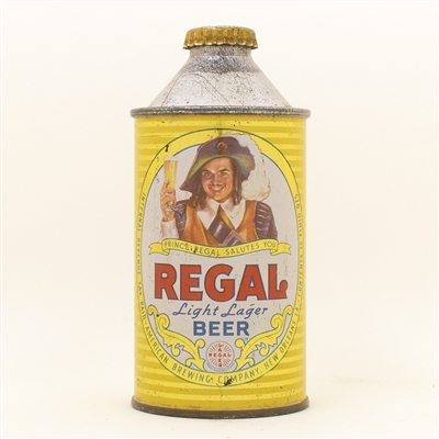 Regal Beer Cone top Can