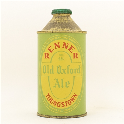 Renner Old Oxford Ale Cone Top Beer Can SUPER