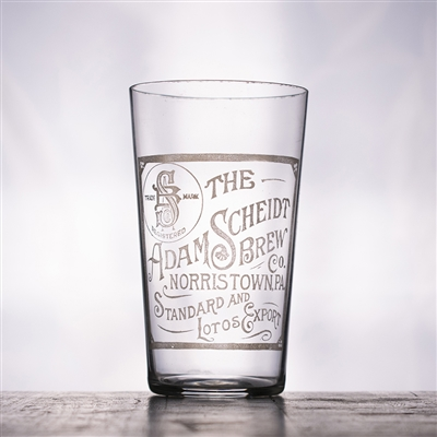 Adam Scheidt Brewing PA Pre-Pro Etched Drinking Glass