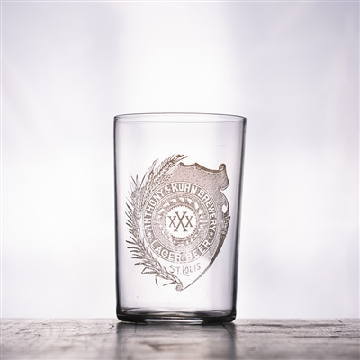 Anthony & Kuhn Brewing St Louis Pre-Pro Etched Glass