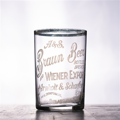Arnholt & Schaefer Brewing Braun Pre-Pro Etched Drinking Glass