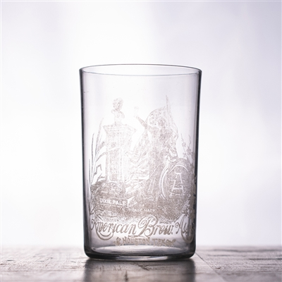 American Brew Assoc Houston Pre-Pro Etched Drinking Glass