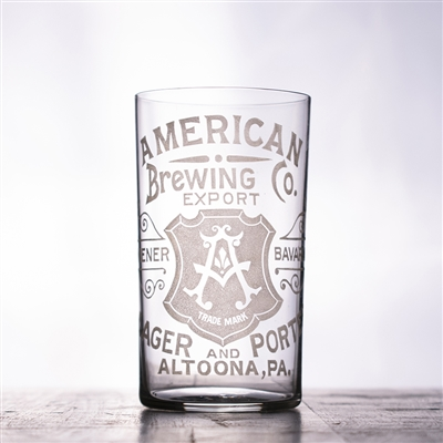 American Brewing PA Pre-Pro Etched Drinking Glass