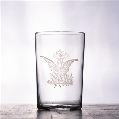 Anheuser-Busch Eagle Pre-Pro Etched Drinking Glass