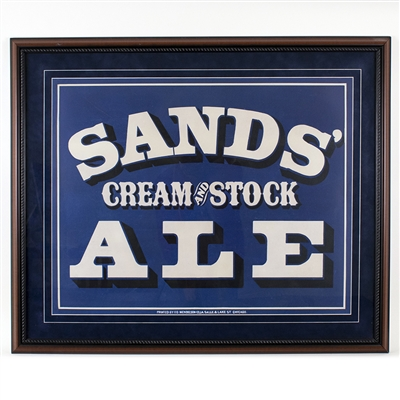 Sands Cream Stock Ale Lithograph