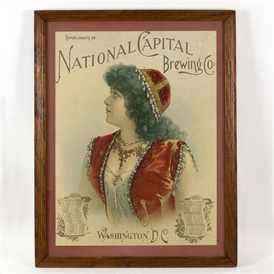 National Capital Brewing Washington DC Lithograph
