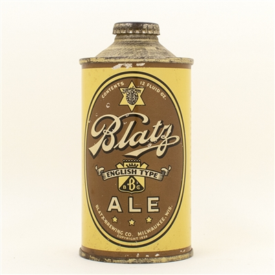 Blatz Ale Low Profile Cone Top