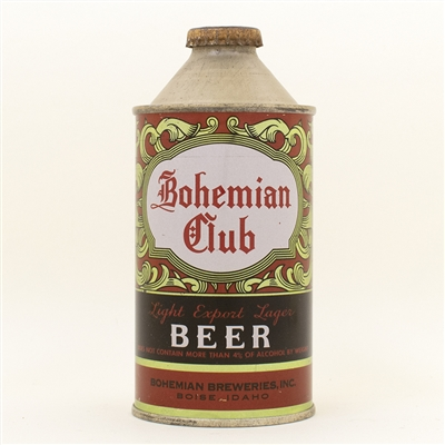 Bohemian Club Beer Cone Top Can