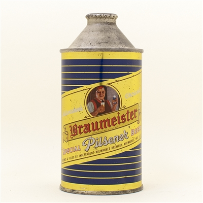 Braumeister Pilsener Cone Top Beer Can