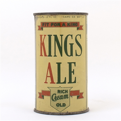 Kings Ale Instructional Flat Top Can