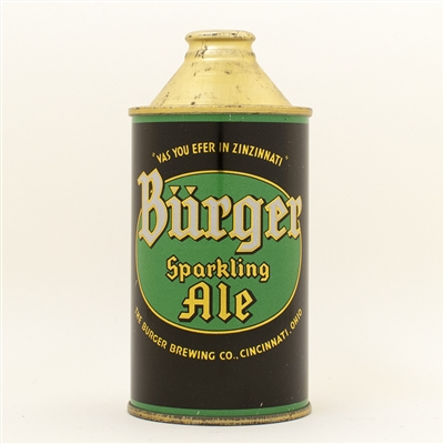 Burger Sparkling Ale Cone Top Beer Can