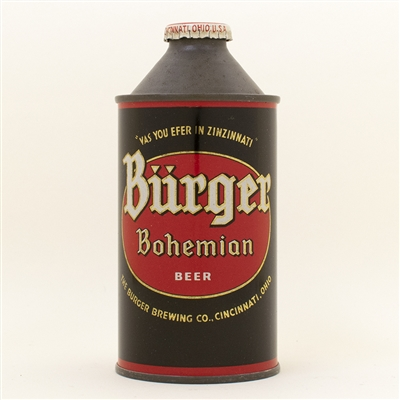 Burger Bohemian Cone Top Beer Can