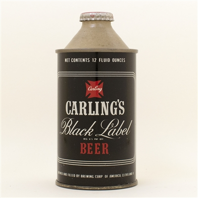 Carlings Black Label Cone Top Beer Can
