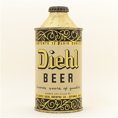 Diehl Beer Ohio Cone Top Can
