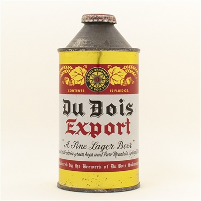 DuBois Export Beer Cone Top Can
