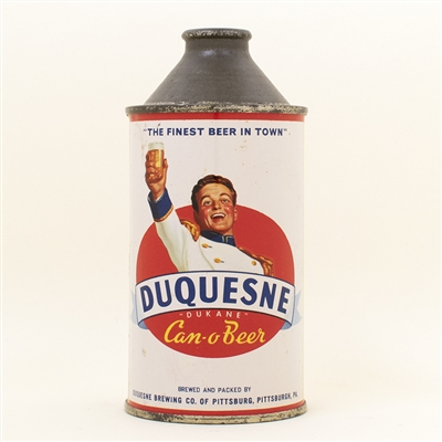 Duquesne Can O Beer Cone Top Can