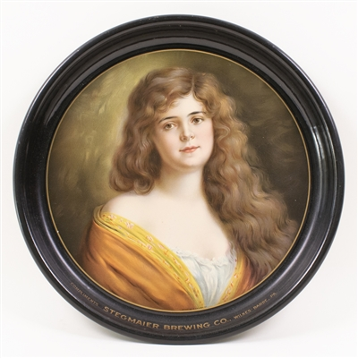Stegmaier Brewing Brunette Victorian Lady Tray