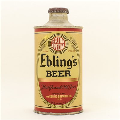Eblings Beer J Spout Cone Top Can