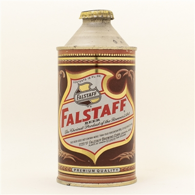 Falstaff Beer Omaha Cone Top Can