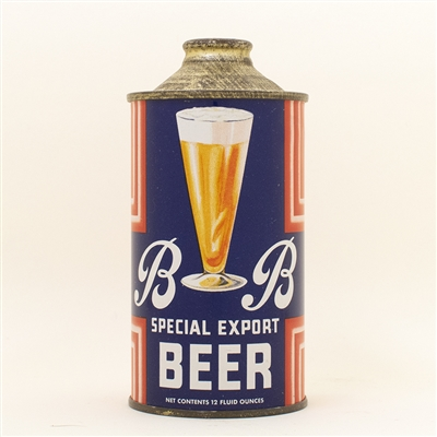 BB Special Beer Rainier Cone Top Can